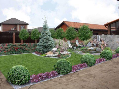 Проектирование участка в Немецкой деревне, г. Краснодар