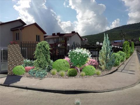 Проектирование придомовой территории в Сукко